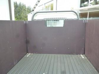 Bordwanderhöhung aus Holz mit Sichtfenster