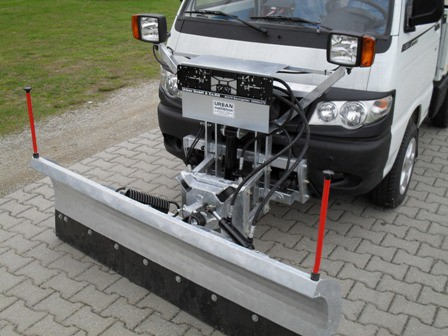 Kompletter Schneepflug UBS 4 für Piaggio Porter