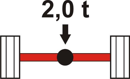 Achslasterhöhung hinten für Piaggio Porter S90